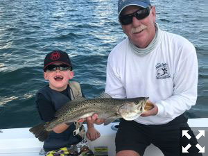 Luke's first time fishing and he landed a 25 inch Trout. Good job Luke!