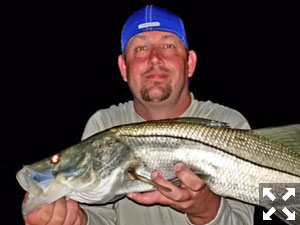 I fished several productive nights this week for snook.