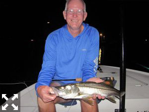 August should be a great month to fish dock lights before daylight to beat the heat. Bob Delano, from GA, caught and released snook and juvenile tarpon on flies while fishing with Capt. Rick Grassett in a previous August.