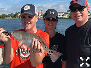 A true family affair as Mother, Father, and Son all had a great time on the water.