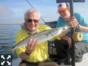 Spanish mackerel should be a good option during March. Tony Merlis, from NH, caught and released this one on an Utra Hair Clouser fly while fishing Sarasota Bay with Capt. Rick Grassett in a previous March.