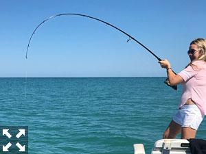 Glenna from Sarasota with her first Tarpon caught off Venice Florida.