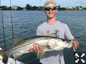 Alex caught and released this super sized snook.
